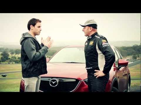 Simon Evans, the Mazda CX-5 and a race track