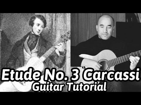 Etude No.3 'Study In A Major'   Carcassi   Classical Guitar Lesson   NBN Guitar