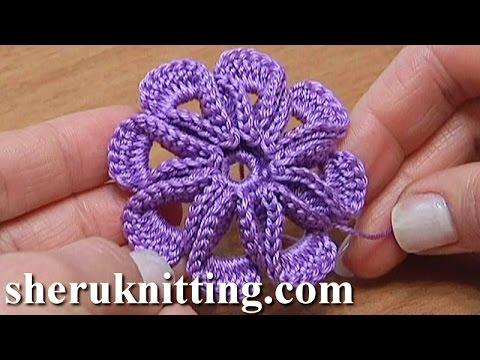 5 Petal Crochet Flower Tutorial