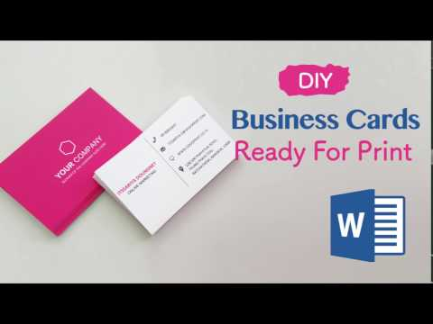 Business Cards In Word