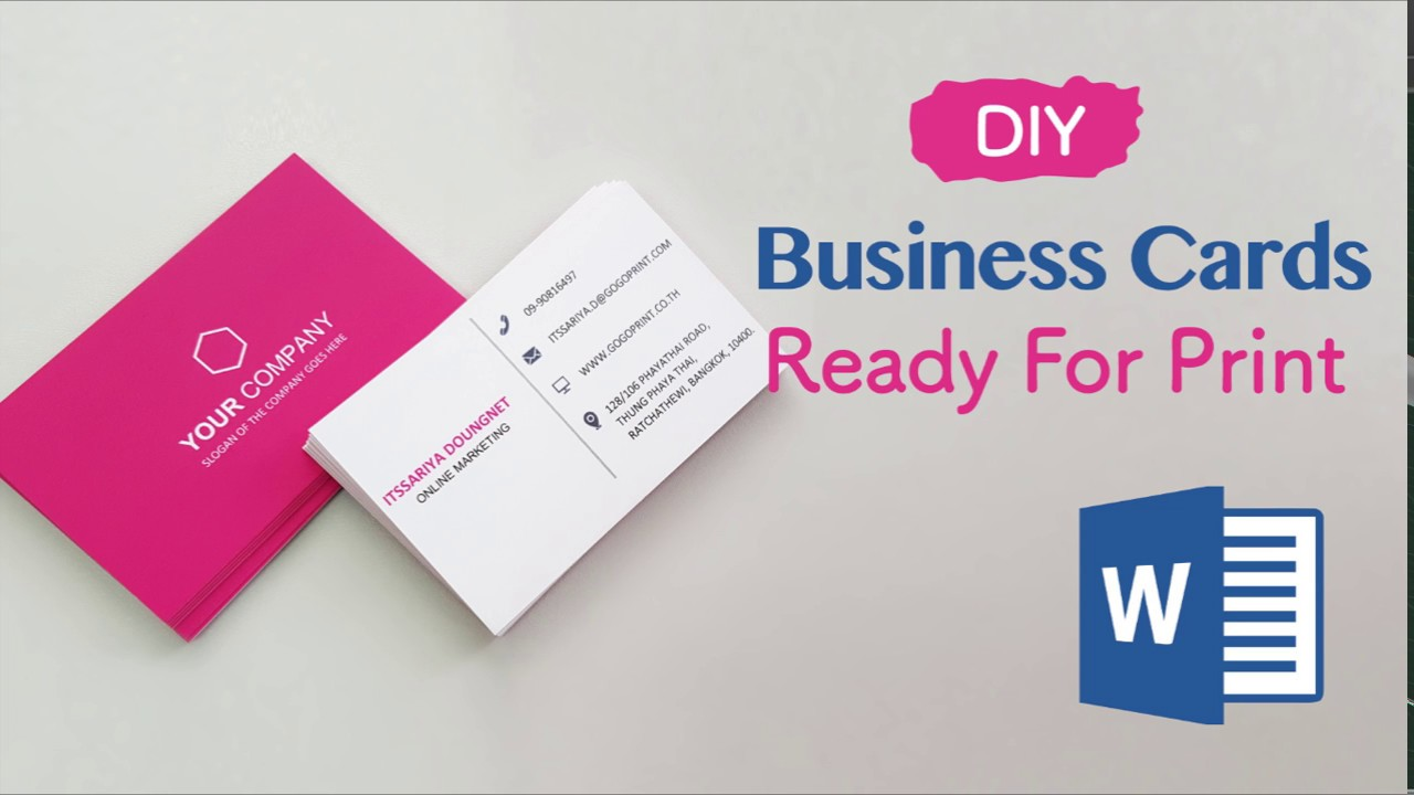 How to Create Your Business Cards in Word - Professional and Print-ready in 4 Easy Steps! - YouTube