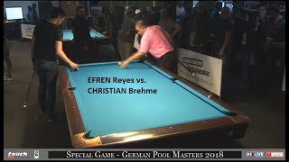 Money Game Efren Reyes vs. Christian Brehme Race to 9 - German Pool Masters powered by REELIVE
