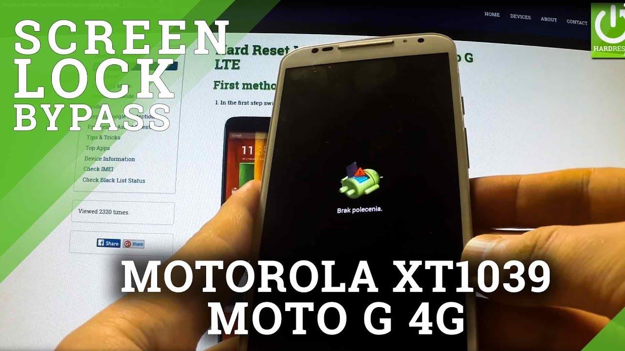 Hard Reset MOTOROLA XT1039 Moto G - reset and bypass screen lock