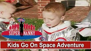Dad & Young Boys Go On A SPACE ADVENTURE - So Cute! | Supernanny