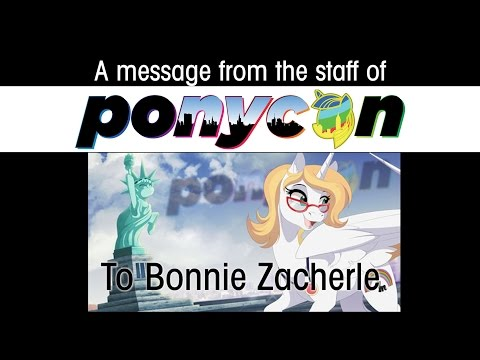 A Birthday wish for Bonnie Zacherle from PonyconNYC