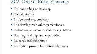 COE 8703: Ethical and Legal Issues in Mental Healt