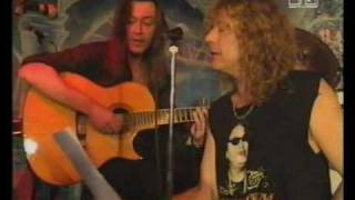 Kevin Macmicheal with Robert Plant 1993