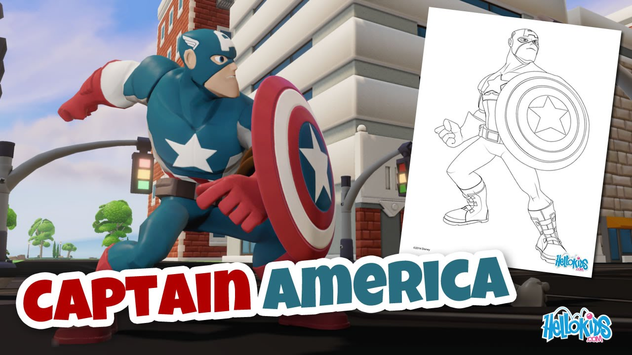 Coloriage Captain America Civil War.Coloriage De Captain America Hellokids