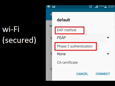 Wi-Fi Secured with EAP method / Phase 2 authentication ...