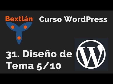 Curso WordPress: 31. Diseño de Tema 5/10 - YouTube