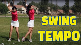 [Golf with Aimee] Aimee's Golf Lesson 005: SWING TEMPO