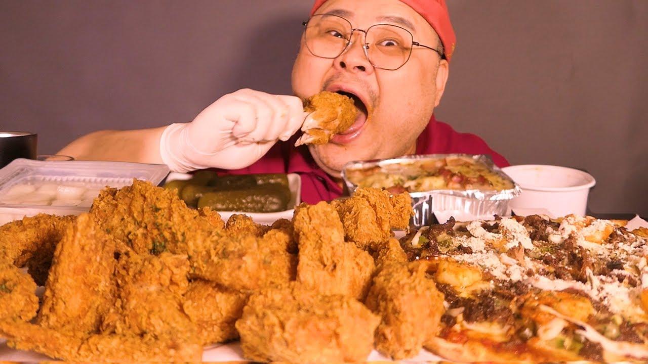 「조금 고독한 아재」피자, 치킨│이조합은 거의 고기에 냉면에 된찌 조합이지~ㅇㅈ?🙂 Mukbang Eatingshow [ Chicken, Pizza, Pasta]