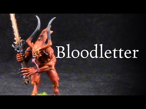 How to paint Bloodletters Daemons of Khorne