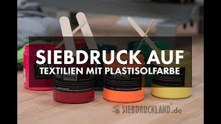 T-SHIRTDRUCK mit PLASTISOLFARBE | Textildruck | Siebdruck