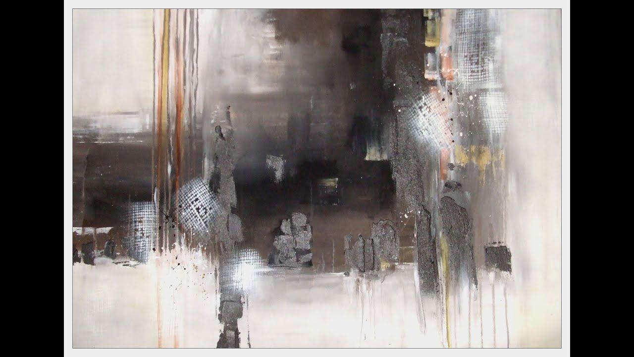 Acrylmalerei Abstrakt Tutorial Marmormehl Krakelierlack