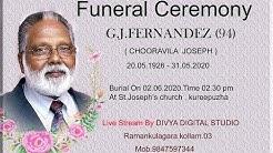 Funeral of G.J. FERNANDEZ