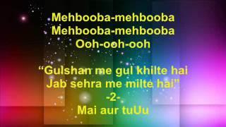 Mehbooba Mehbooba - Sholay - Full Karaoke