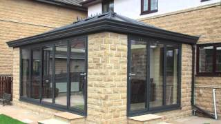 aluminium orangery and bi folding doors from express