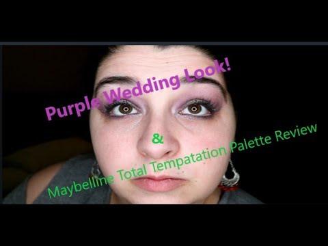 Maybelline Total Temptation Review + Purple Eye Wedding Look