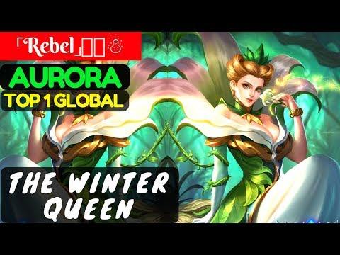 The Winter Queen [Top 1 Global Aurora] | 「Rebel」喵喵☃ Aurora Gameplay & Build #1 Mobile Legends