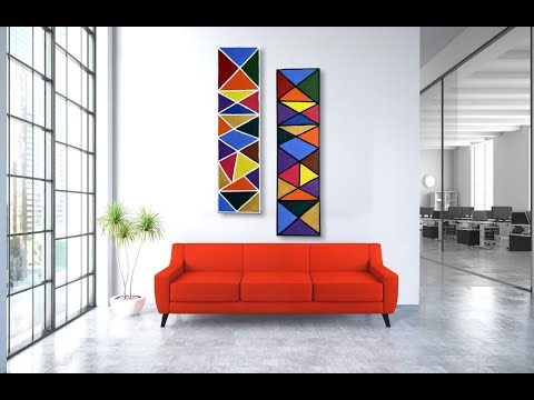 Handmade Abstract Acrylic Colorful Wall Art Canvas - DIY WALL DECOR