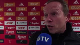 Reactie van Boessen na afloop van het duel met Jong Ajax