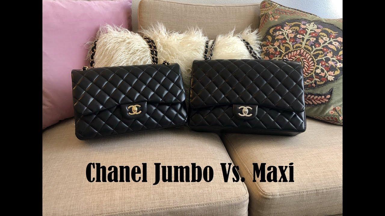 878181e88b5d Chanel Jumbo vs. Maxi Comparison - YouTube