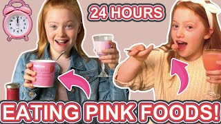 I Tried Only Eating Pink Food For 24 Hours *One Color of Food 24 Hours Challenge | Ruby Rose UK