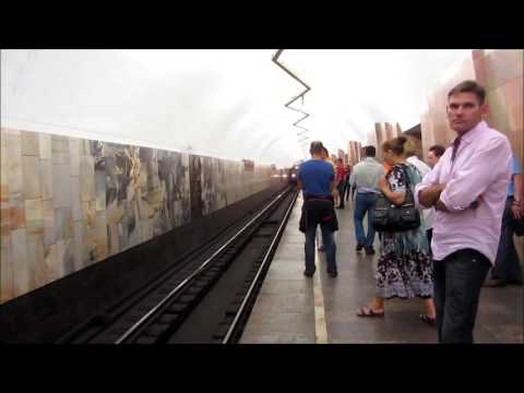 Красивая Московское Метро: The Beautiful Stations of Moscow Metro and the Trains. (Moscow,