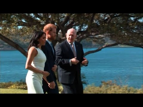 Prince Harry and Meghan attend official welcome in Australia