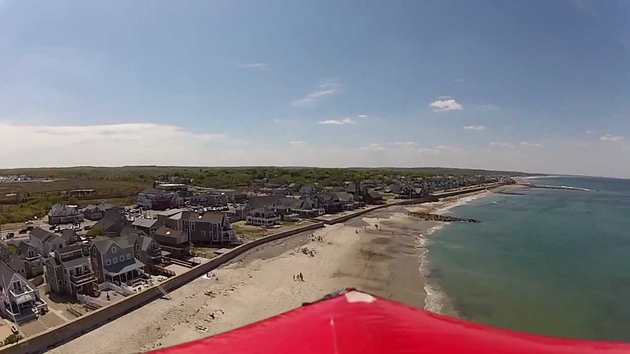 Brant Rock Beach Aerial Views With Gopro Windy Day Today