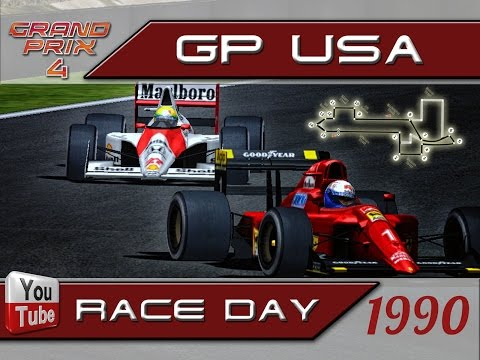 Grand Prix 4. Mod 1990. USA. 1 round. Phoenix. Race