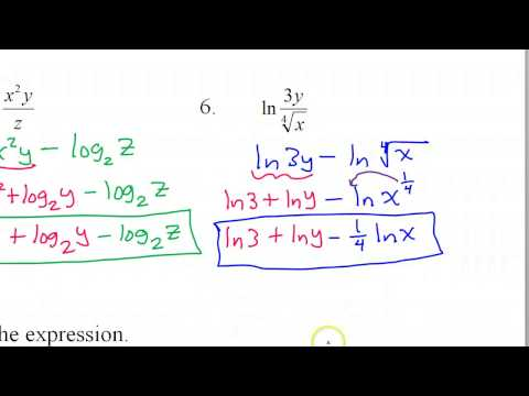 Expanding and Condensing Logarithms