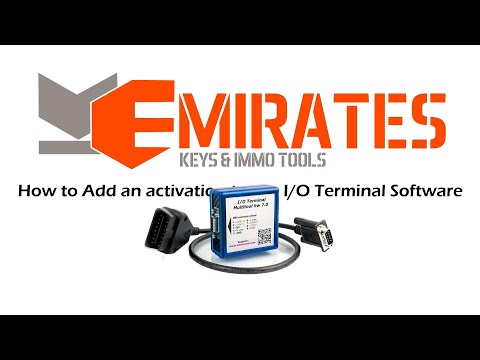 How to Add an activation to the I/O Terminal Software.