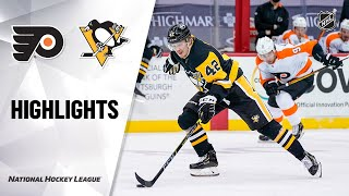 Flyers @ Penguins 3/2/21 | NHL Highlights