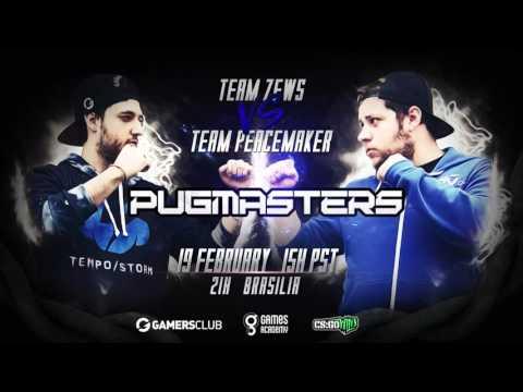 Pugmasters #1 - Team Zews vs. Team Peacemaker (Mapa 1 - Mirage) Narração PT-BR