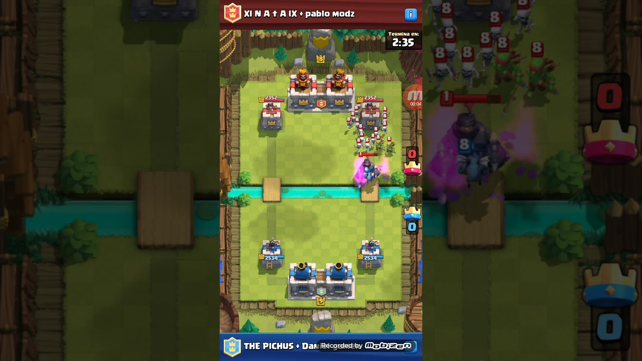 CLASH ROYALE/ amazing Battle 2c2 😱😱😱