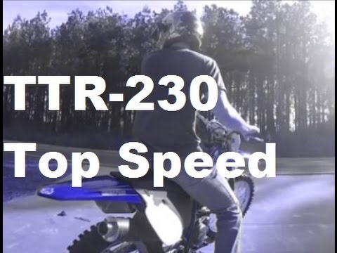 TTR 230 Top Speed Using *GPS* - YouTube