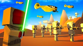 Clone Troopers vs Droids at the EPIC Battle of Geonosis in Ancient Warfare 3 Star Wars Mod