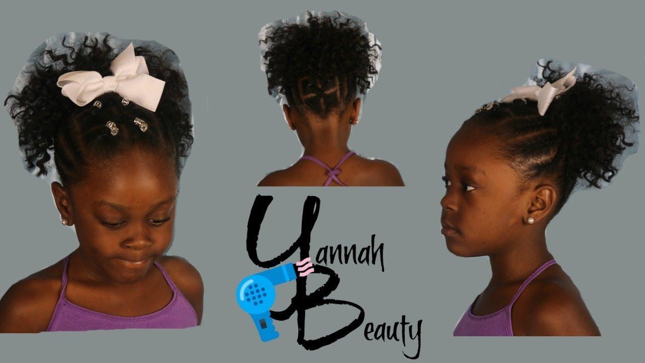 Yannah Beauty Crochet Ponytail Little Girls Hair Crochet Hairstyles Kids Hair Curly Hair Youtube