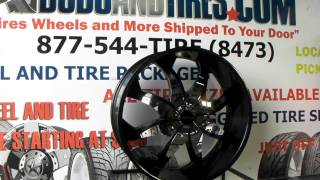 Www.dubsandtires.com Rock'n'star Wheels 608 Firehouse Black W/ Chrome Inserts Rockstarr Rims &tires