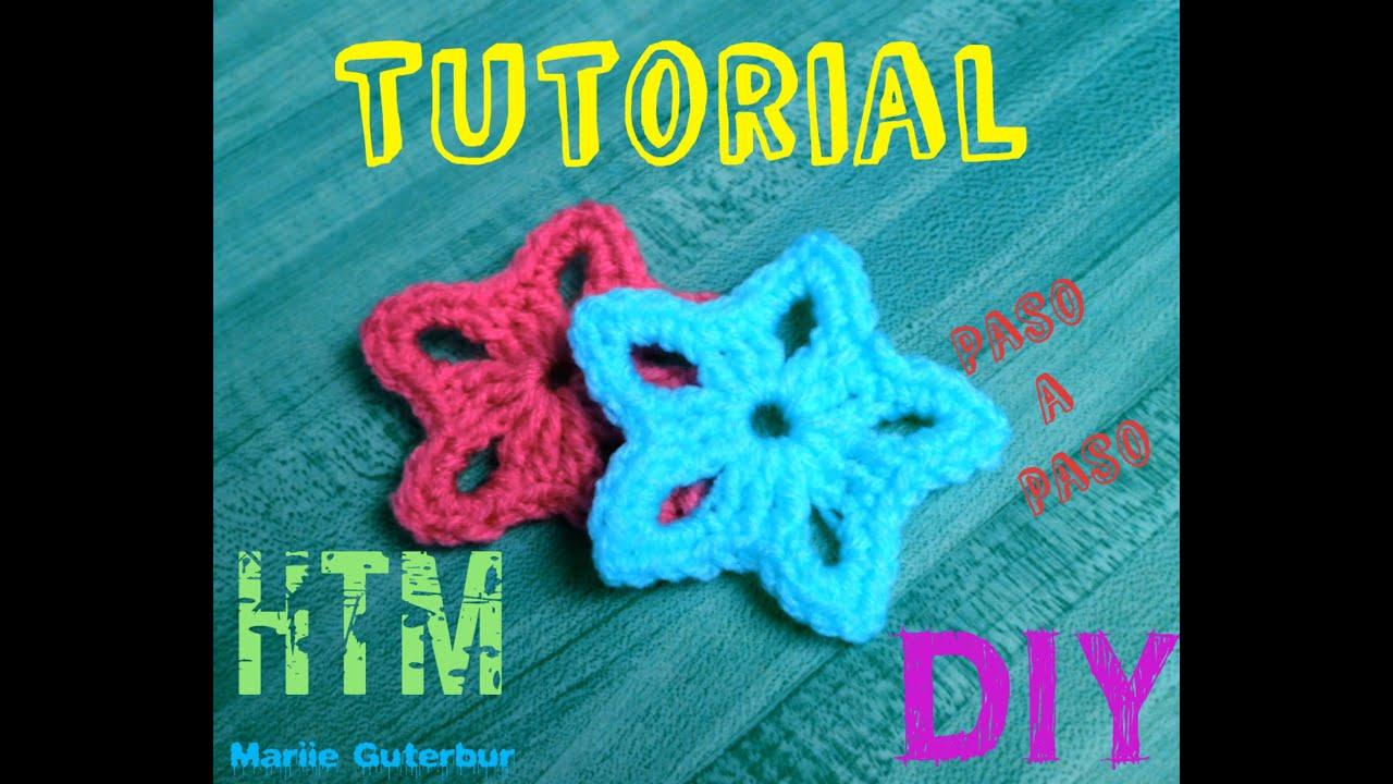 Aprende A Tejer Estrellas: Tejidas a crochet!!! - YouTube