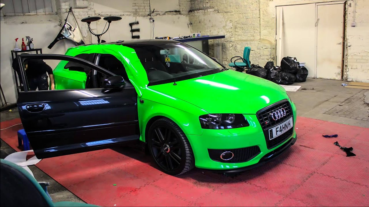Autos By Nelson >> Audi A3/S3 Hexis HX20369B Apple Green Wrap - YouTube