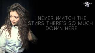 Repeat youtube video Lorde - Yellow Flicker Beat (Video Lyrics)