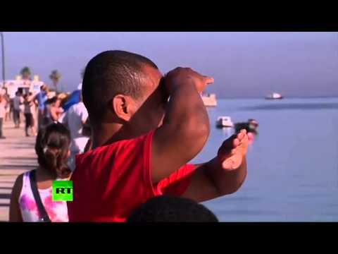 Havana; Cuba Salute to Russian Naval port call