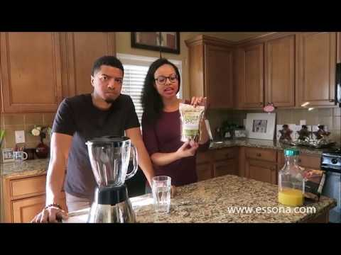 How to make a green smoothie with superfood powder for energy and weight loss!