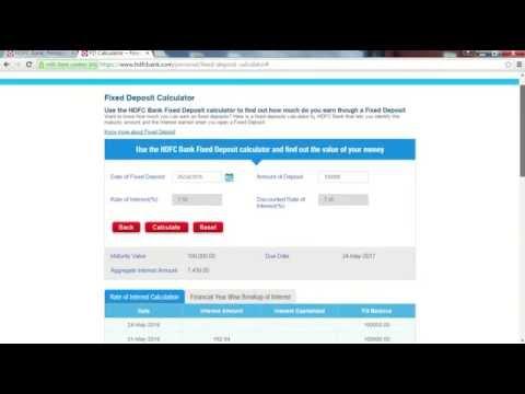 HDFC Fixed Deposit Calculator - Calculate Maturity Value
