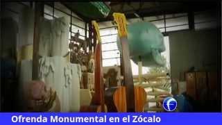 Ya está lista la Ofrenda Monumental en el Zócalo