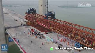 Another mega bridge in China! This one spans the Pearl River