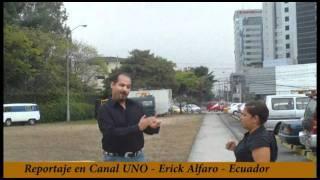 ERICK ALFARO ENTREVISTADO CANAL UNO ECUADOR